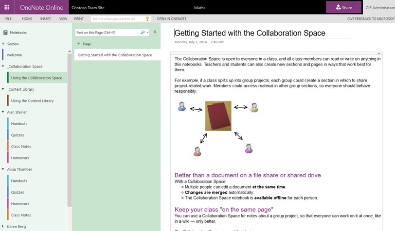 OneNote Class Notebook Collaboration